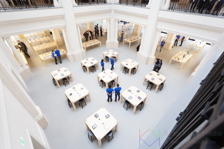 Reportage opening Apple Store Amsterdam door Kees Krick Media